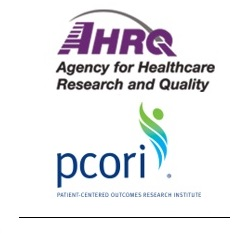 Side-by-side logos for the Agency for Healthcare Research and Quality (AHRQ) and the Patient-Centered Outcomes Research Institute (PCORI).