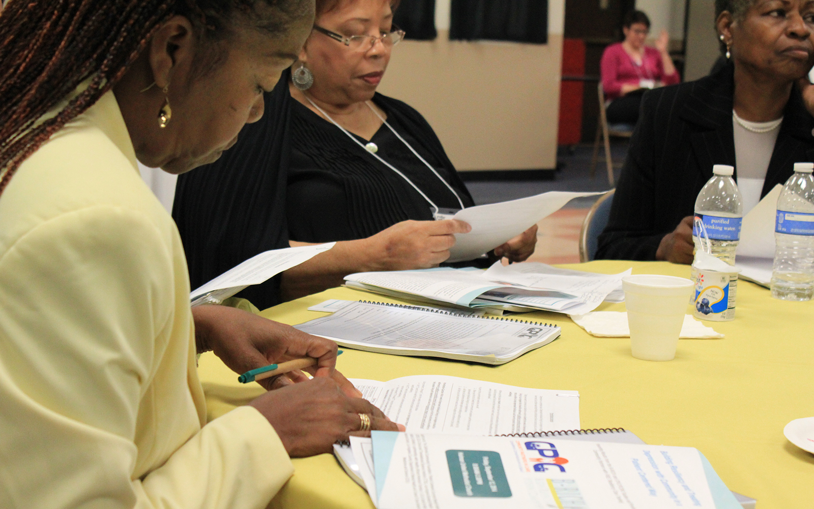 Community members review findings of a PCORI-funded study of approaches to improving depression care. (Photo courtesy of Community Partners in Care)