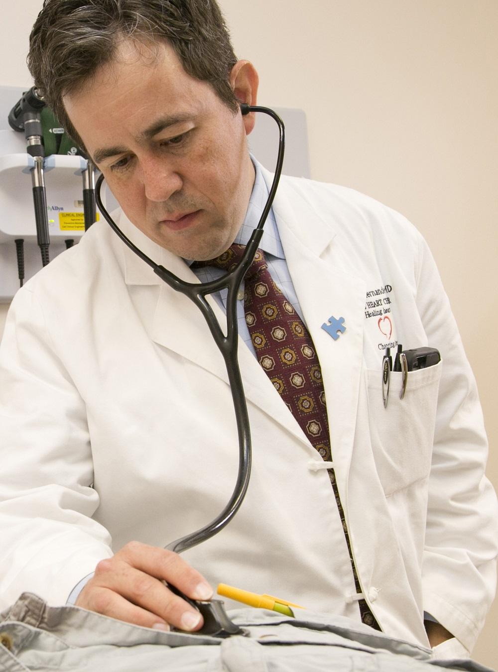 Dr. Adrian Hernandez attending to a patient. (PROSPER narrative)