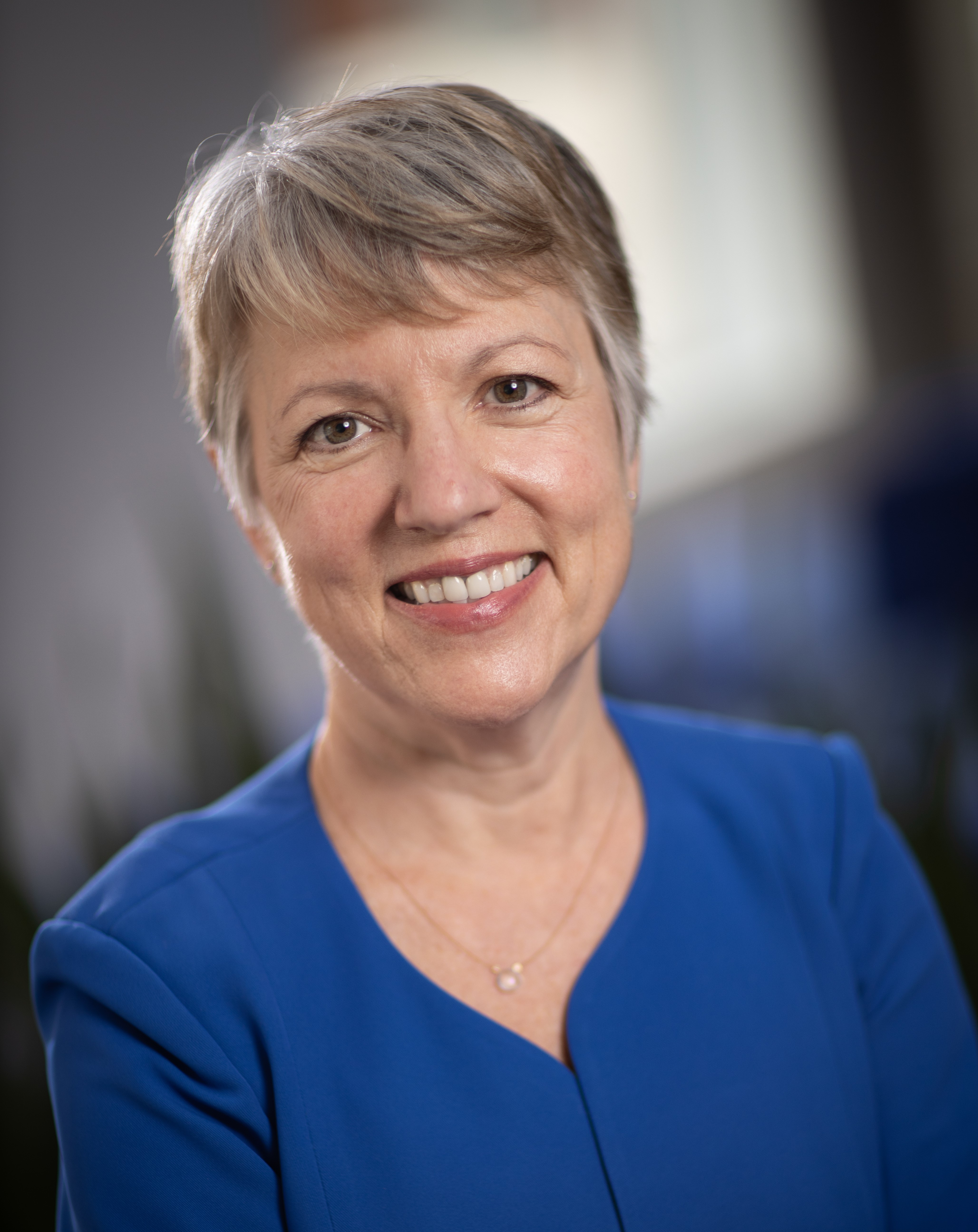 A headshot of Christine Goertz, Chairperson of the PCORI Board of Governors.