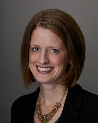 A headshot of Laura Forsythe, PhD, MPH, Director, Evaluation and Analysis.