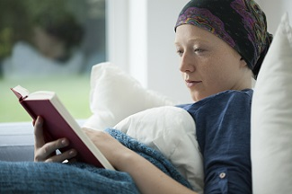 Woman With Cancer Reading Book (June 2016 narrative image)
