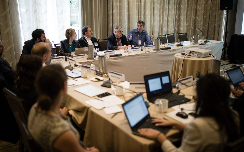 A PCORI advisory panel meeting convenes for one of its quaterly meetings.