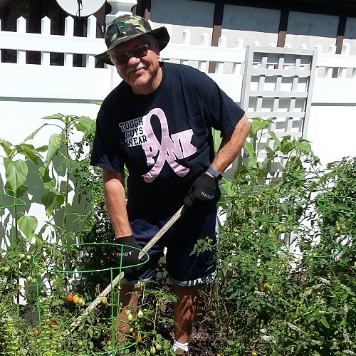 Since taking part in a 16-week class aimed at lowering his risk of developing diabetes, John Schultz has lost more than 30 pounds, and enjoys spending more time working in his yard.  (Courtesy of John Schultz)
