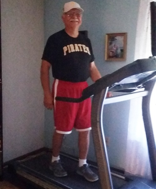 As part of his work to lower his risk of developing diabetes, John Schultz started an exercise program where he aims to get 10,000 steps in each day. (Courtesy of John Schultz)