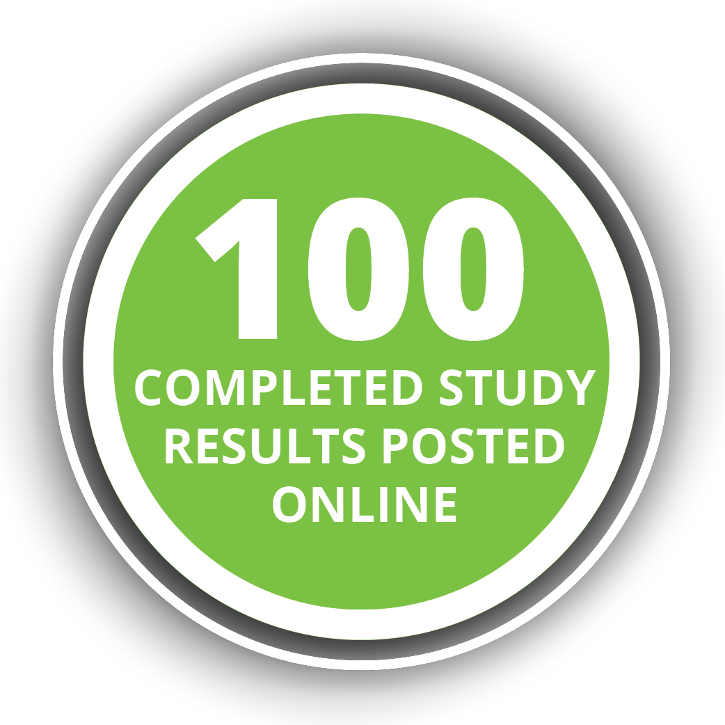 100 completed study results have been posted online.