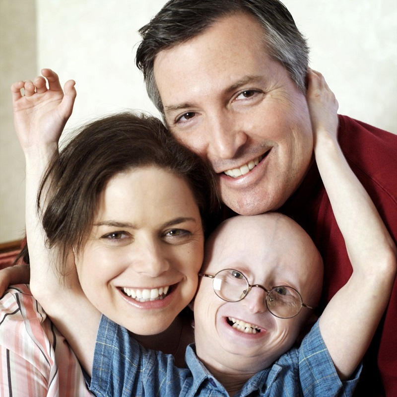 A photo of the Berns family. (From left: Leslie Berns, Sam Berns, Scott Berns)