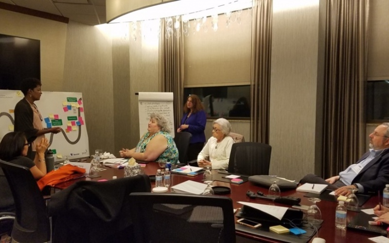 Patient partners participating in the journey mapping exercise at the TC-E2AN's annual in-person meeting
