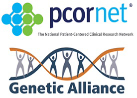 PCORnet and Genetic Alliance Logos for PMI Blog